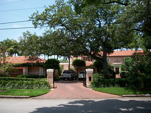 front driveway of house