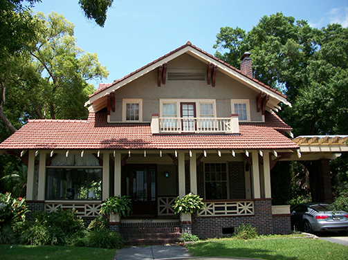 front of two story house